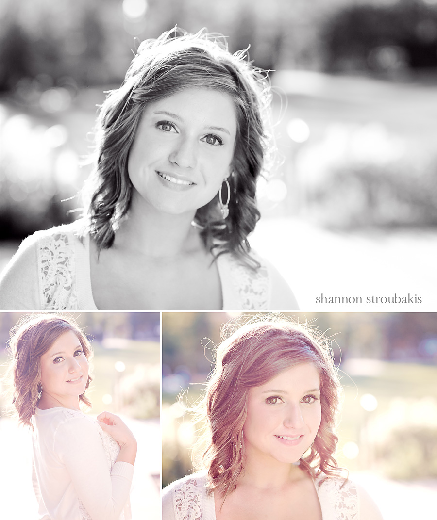 senior portraits 2012 outdoors with backlighting in a park