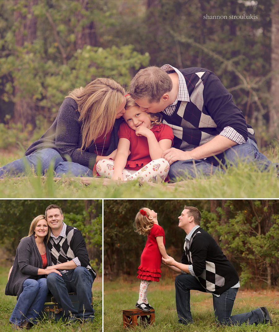 outdoors family fall session mini portraits in the woodlands
