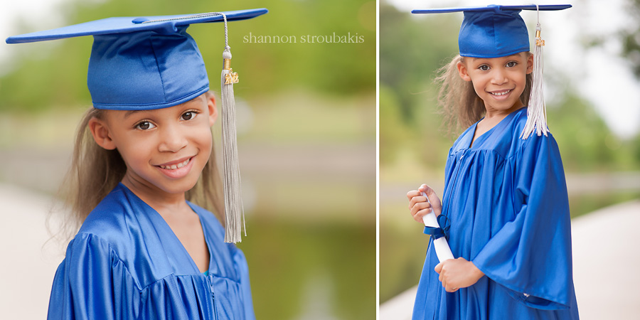 little girl graduation portraits