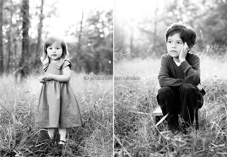 black and white artistic images of children in a field