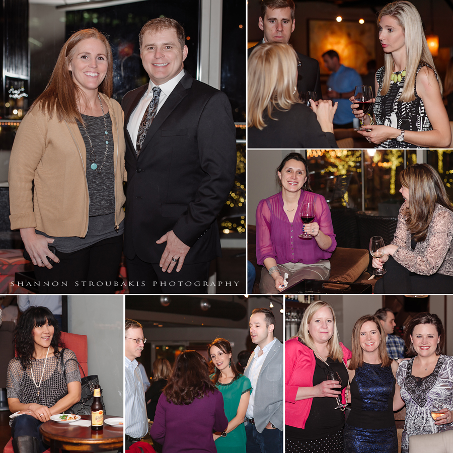 wedding reception event photography in the woodlands at a local wine bar